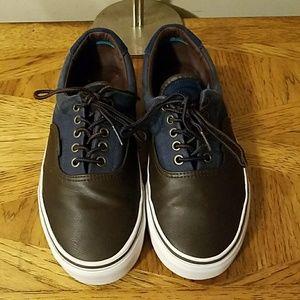 Vans. Blue w/Brown leather. M9/W10.5